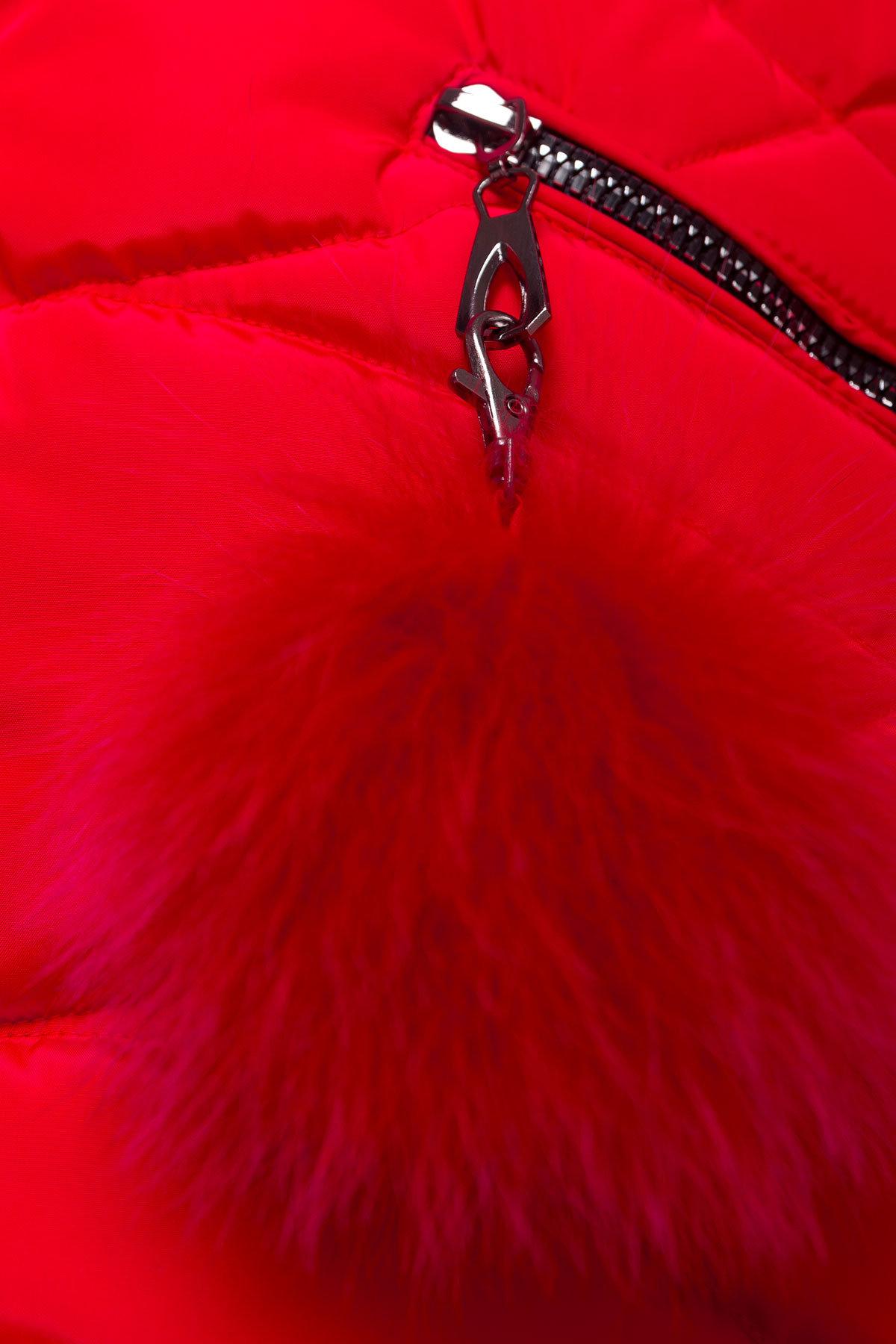 Пуховик прямого кроя Ингрид 4235 АРТ. 20890 Цвет: Красный - фото 5, интернет магазин tm-modus.ru