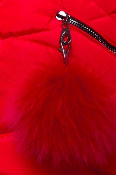 Пуховик прямого кроя Ингрид 4235 Цвет: Красный