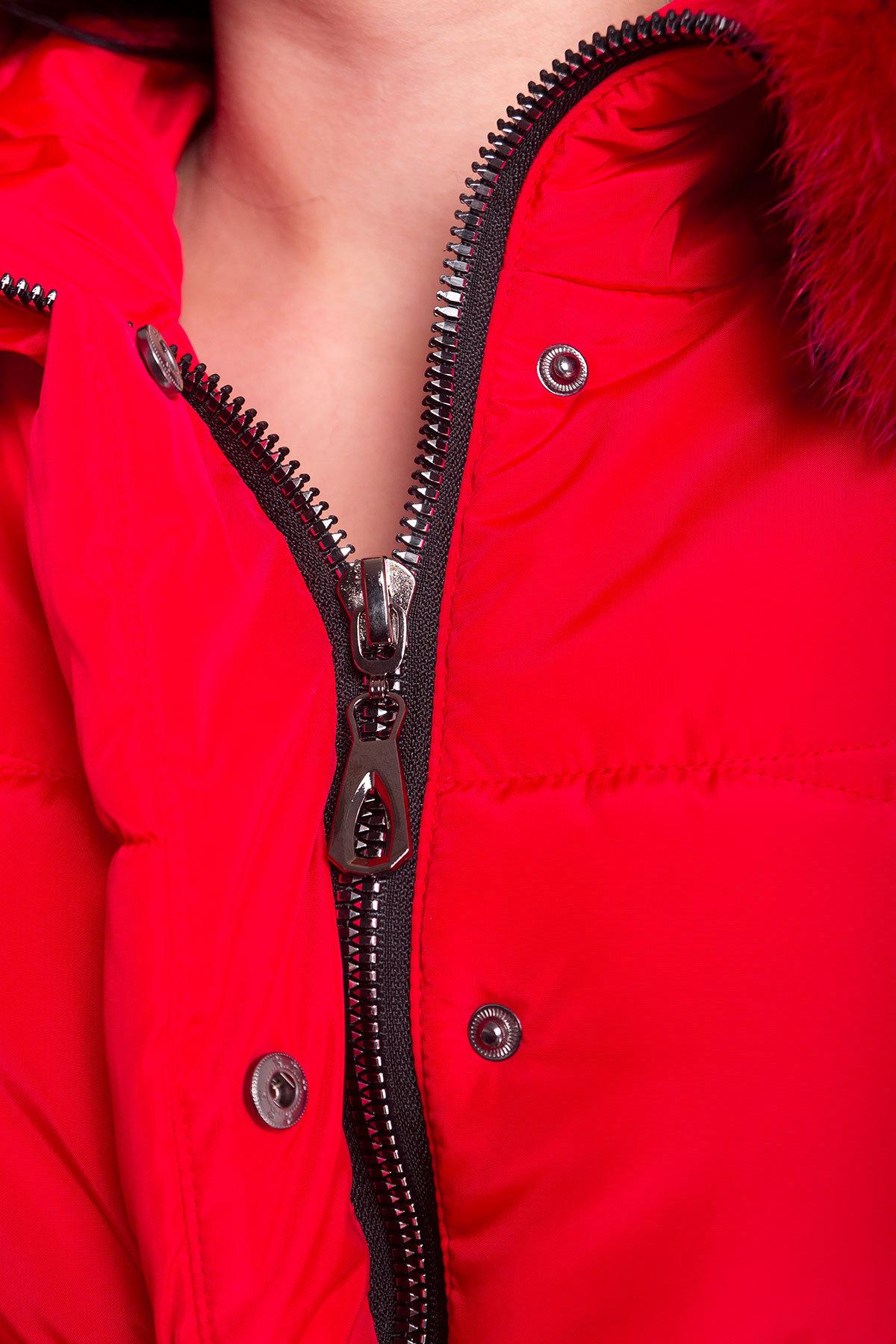Пуховик прямого кроя Ингрид 4235 АРТ. 20890 Цвет: Красный - фото 4, интернет магазин tm-modus.ru