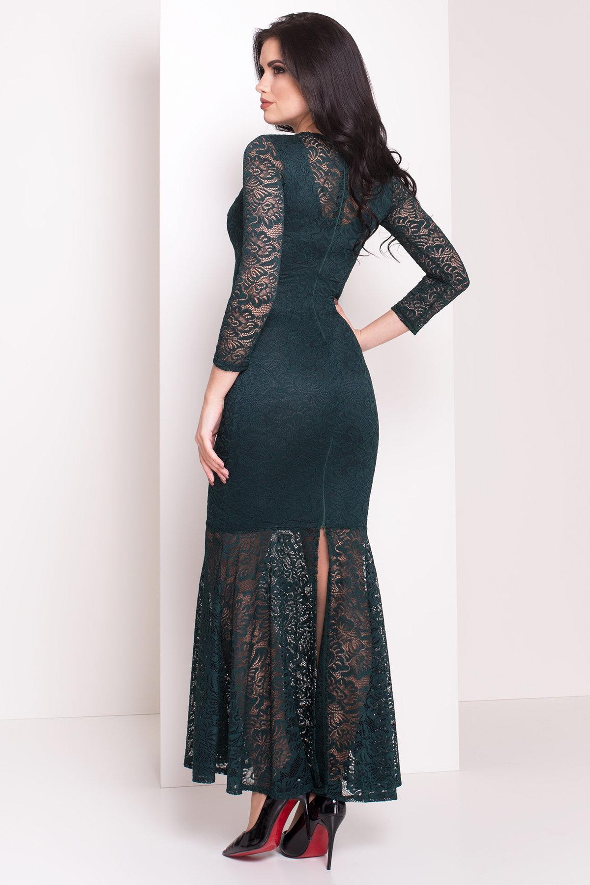 Платье Ума 4111 Цвет: Зеленый Темный