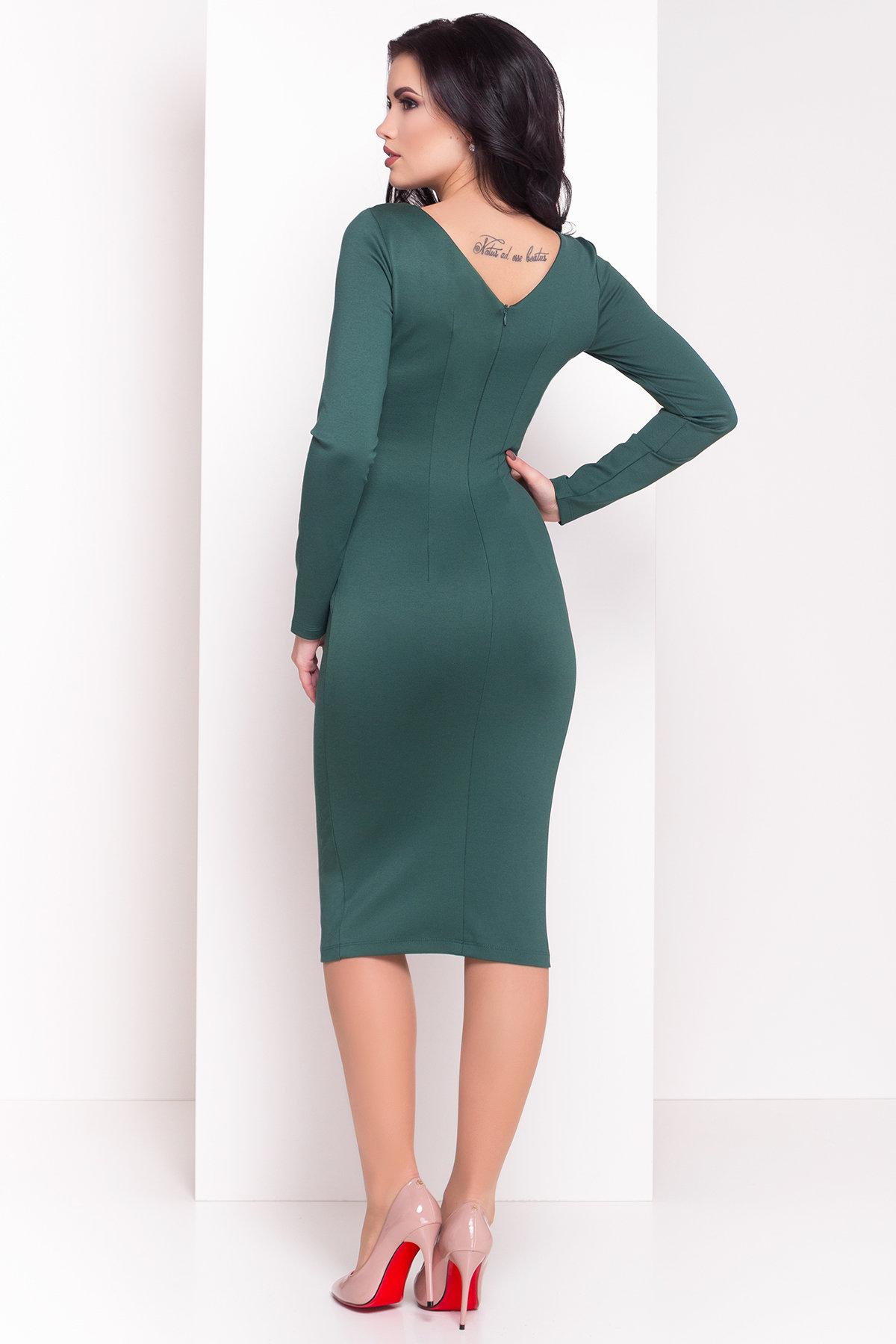 Платье Уна 503 АРТ. 7037 Цвет: Зеленый - фото 2, интернет магазин tm-modus.ru