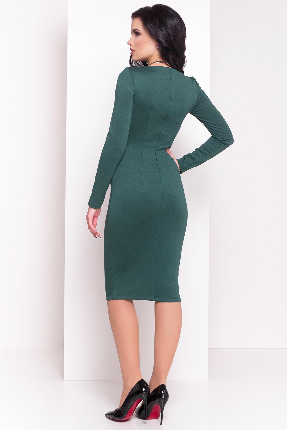 Платье с круглым вырезом Альтера 510 АРТ. 7045 Цвет: Зеленый - фото 2, интернет магазин tm-modus.ru