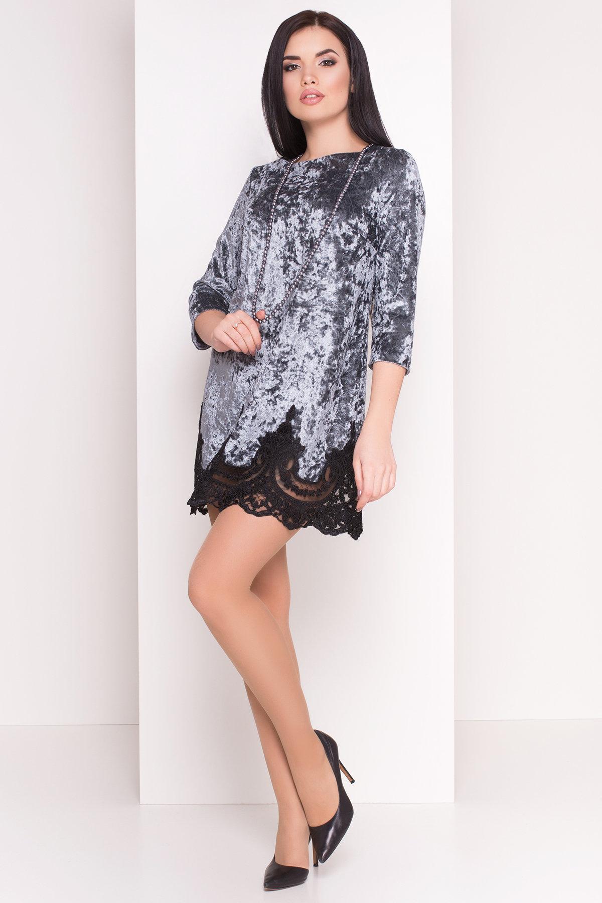 Платье Валери 4228 Цвет: Серый