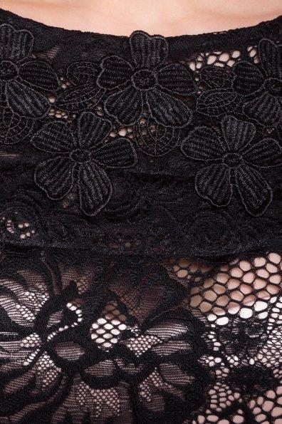 Гипюровое Платье Россини 4319 Цвет: Черн/беж цветы