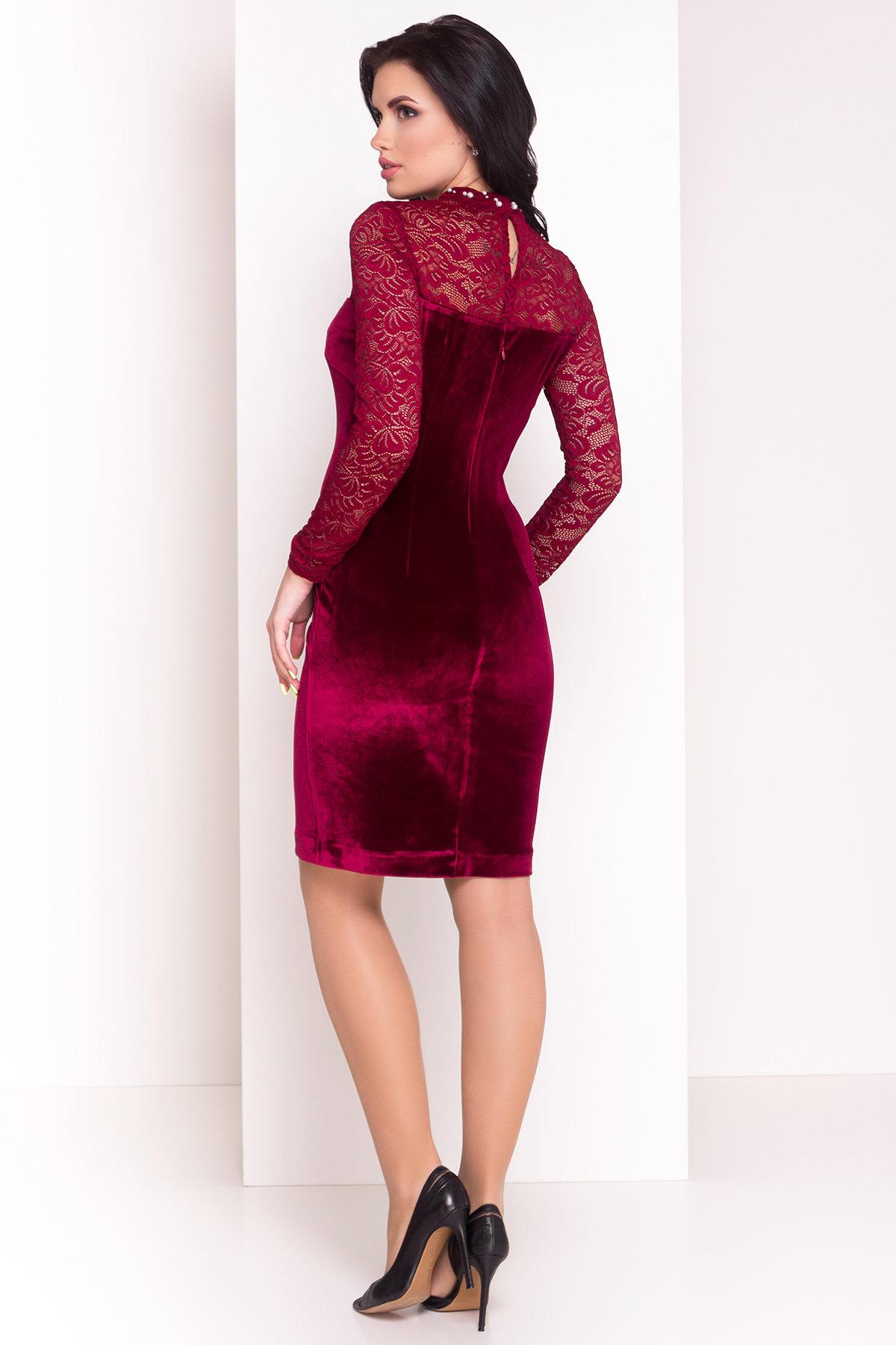 Платье Гоже 4185 АРТ. 20645 Цвет: Марсала - фото 2, интернет магазин tm-modus.ru