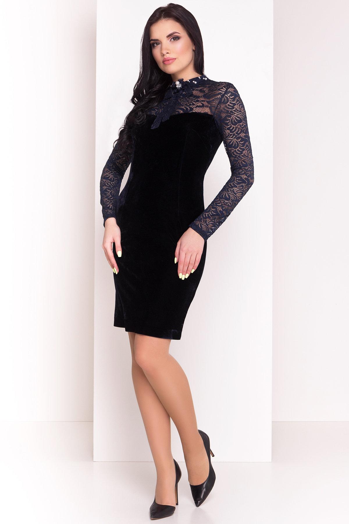 Платье Гоже 4185 Цвет: Темно-синий