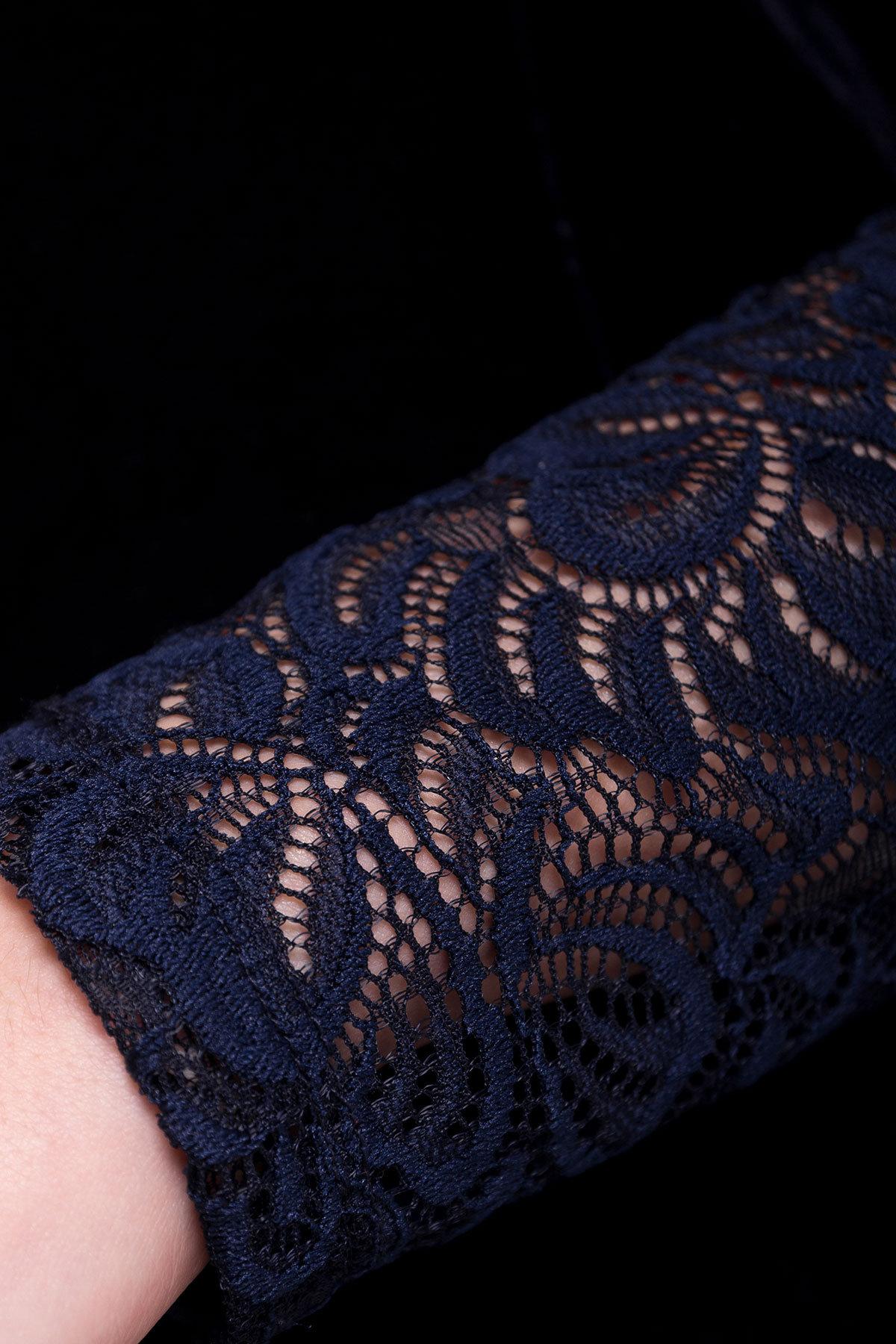 Платье Гоже 4185 АРТ. 20647 Цвет: Темно-синий - фото 4, интернет магазин tm-modus.ru