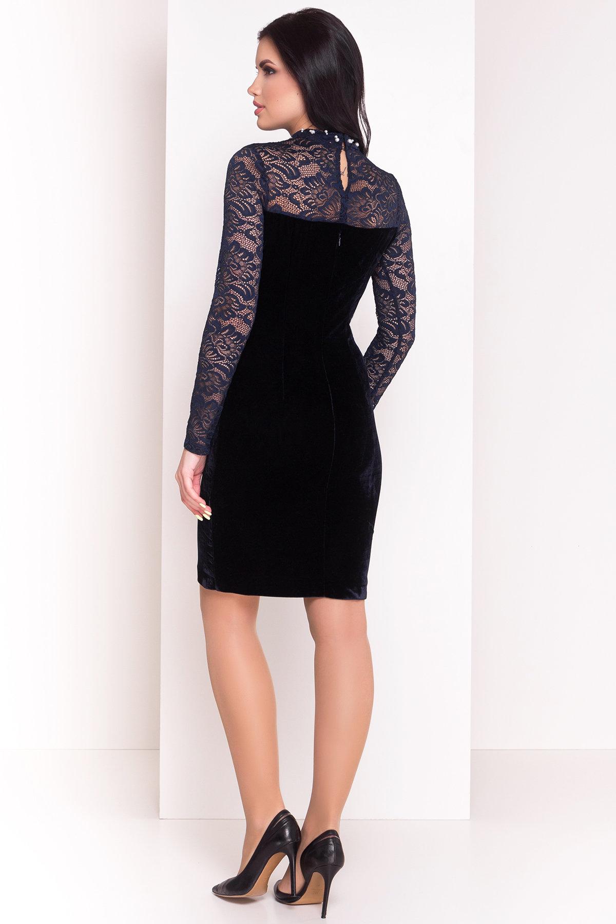 Платье Гоже 4185 АРТ. 20647 Цвет: Темно-синий - фото 2, интернет магазин tm-modus.ru