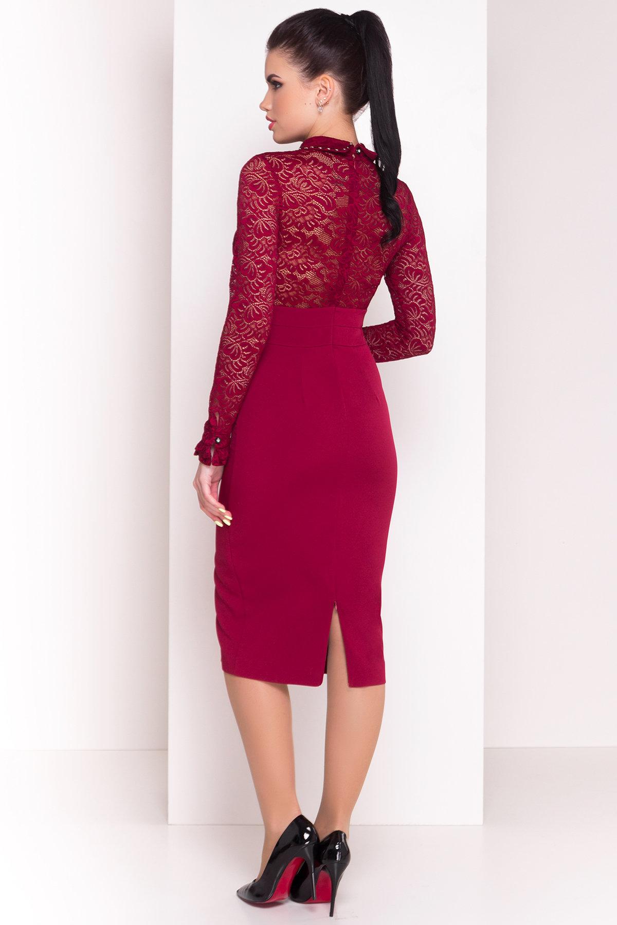 Платье Серсея 4294 АРТ. 20754 Цвет: Марсала - фото 2, интернет магазин tm-modus.ru