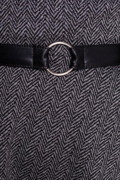 Платье Сафо 4471 Цвет: Черный/серый ёлочка
