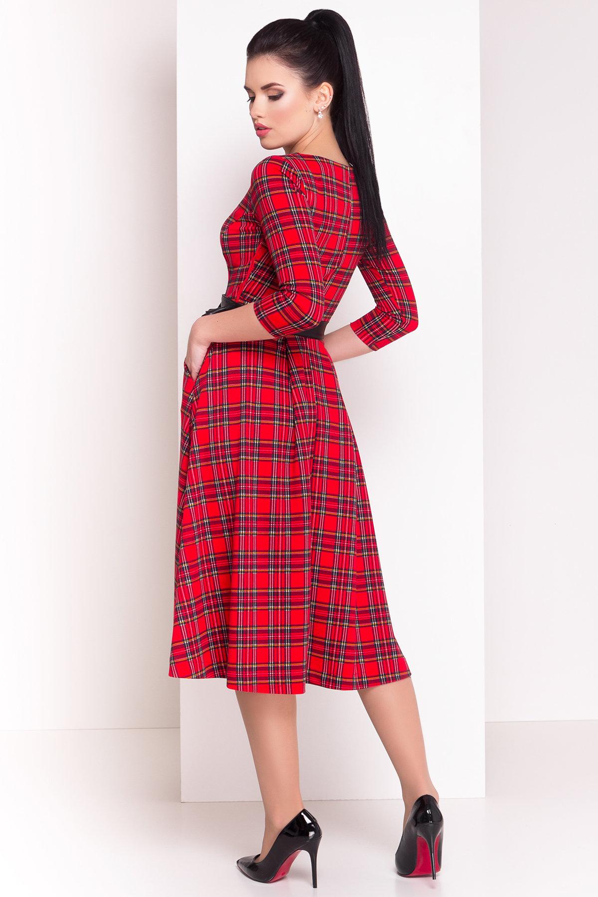 Платье Карен лайт 4835 Цвет: Крас/черн/желт 2/1 кл кр