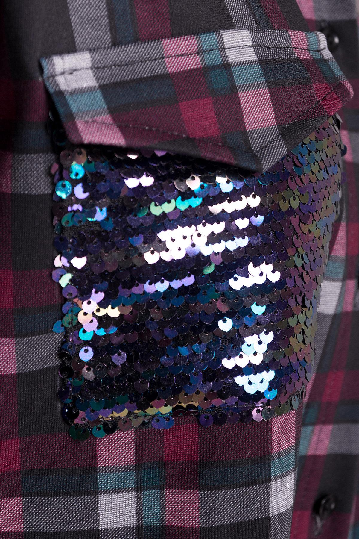 Платье - рубашка Исар 1980 Цвет: Бордо/зеленый 122/1 кл ср