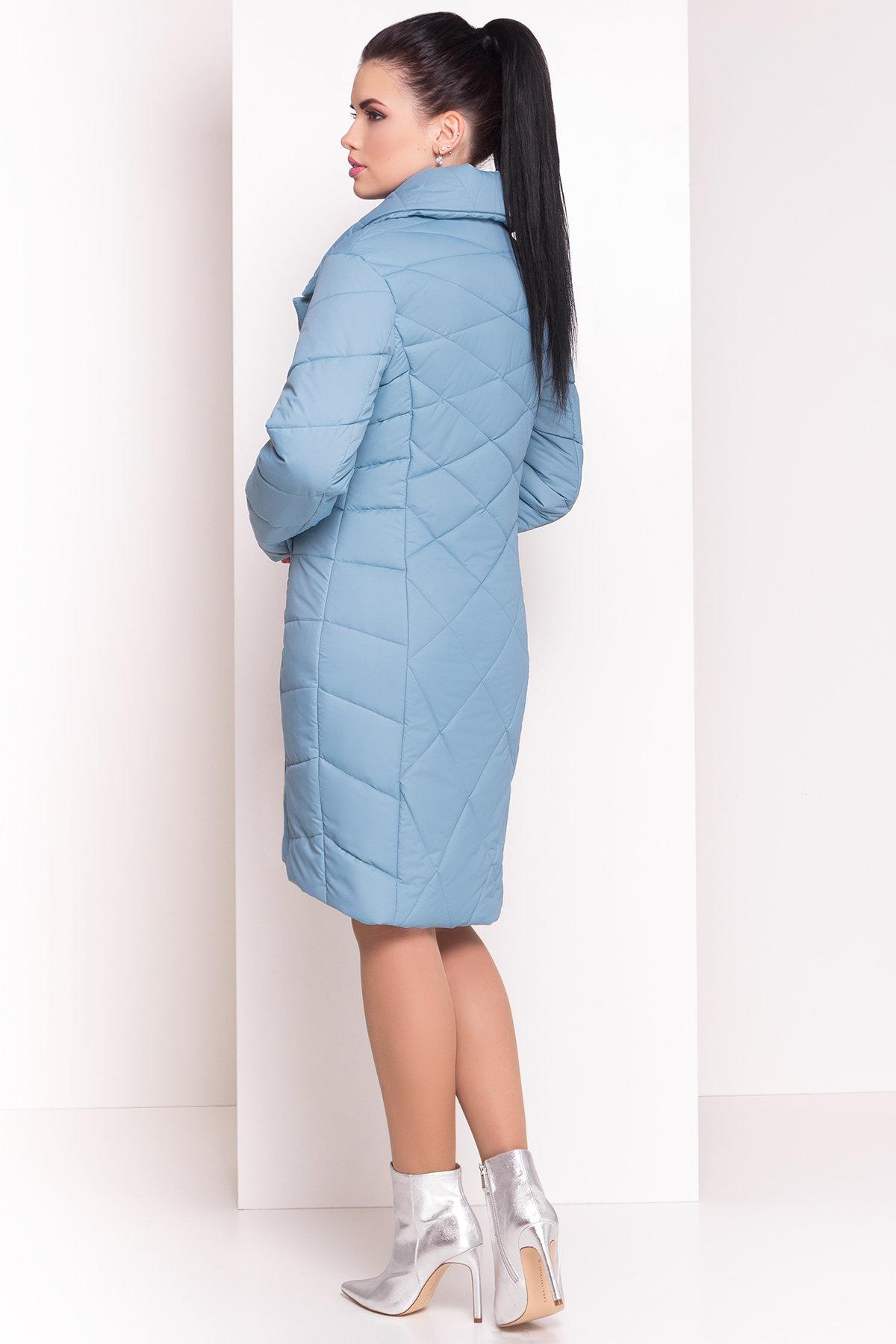 Стеганое демисезонное пальто-куртка Сандра 4526 АРТ. 21524 Цвет: Голубой - фото 3, интернет магазин tm-modus.ru