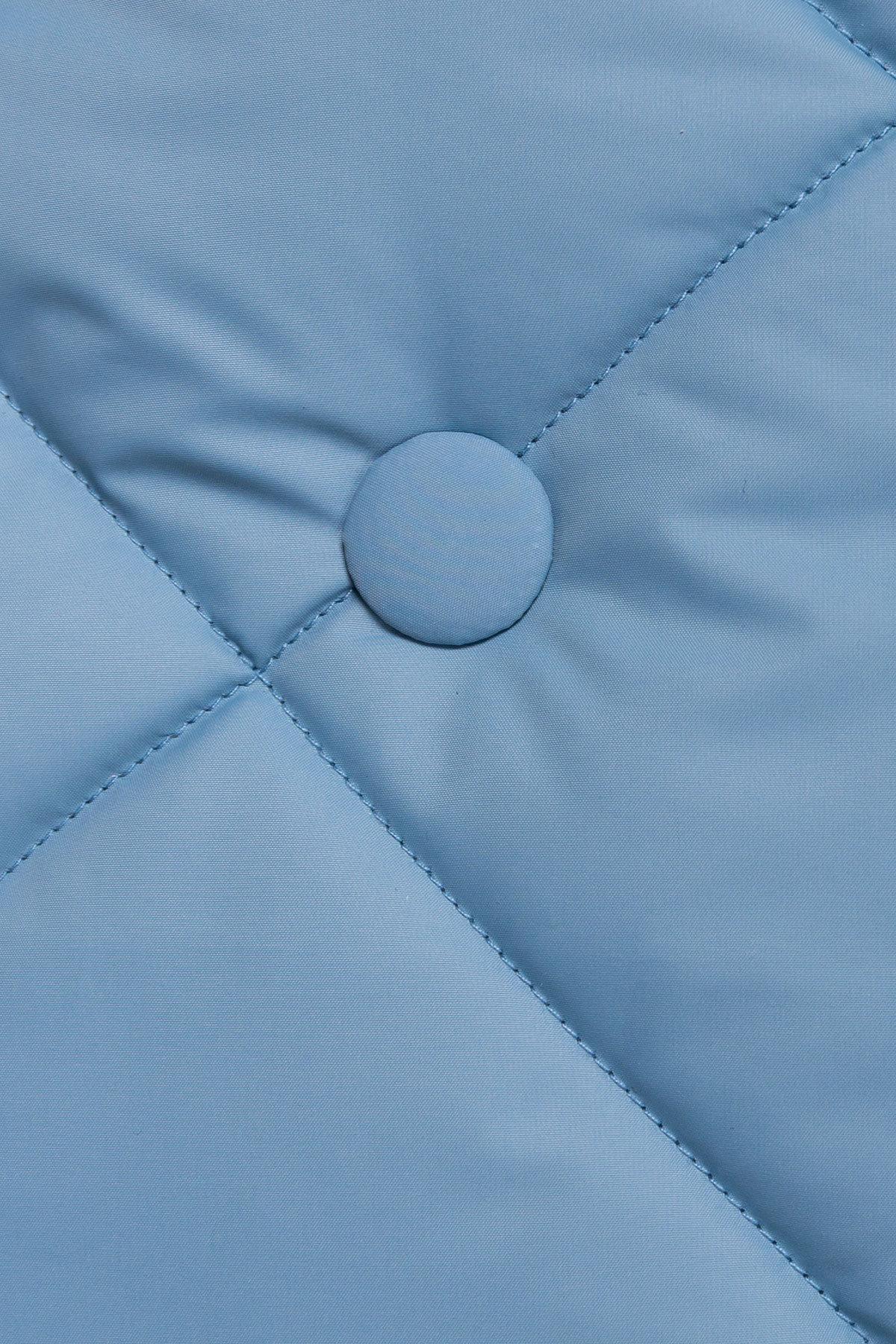 Стеганое демисезонное пальто-куртка Сандра 4526 АРТ. 21524 Цвет: Голубой - фото 5, интернет магазин tm-modus.ru