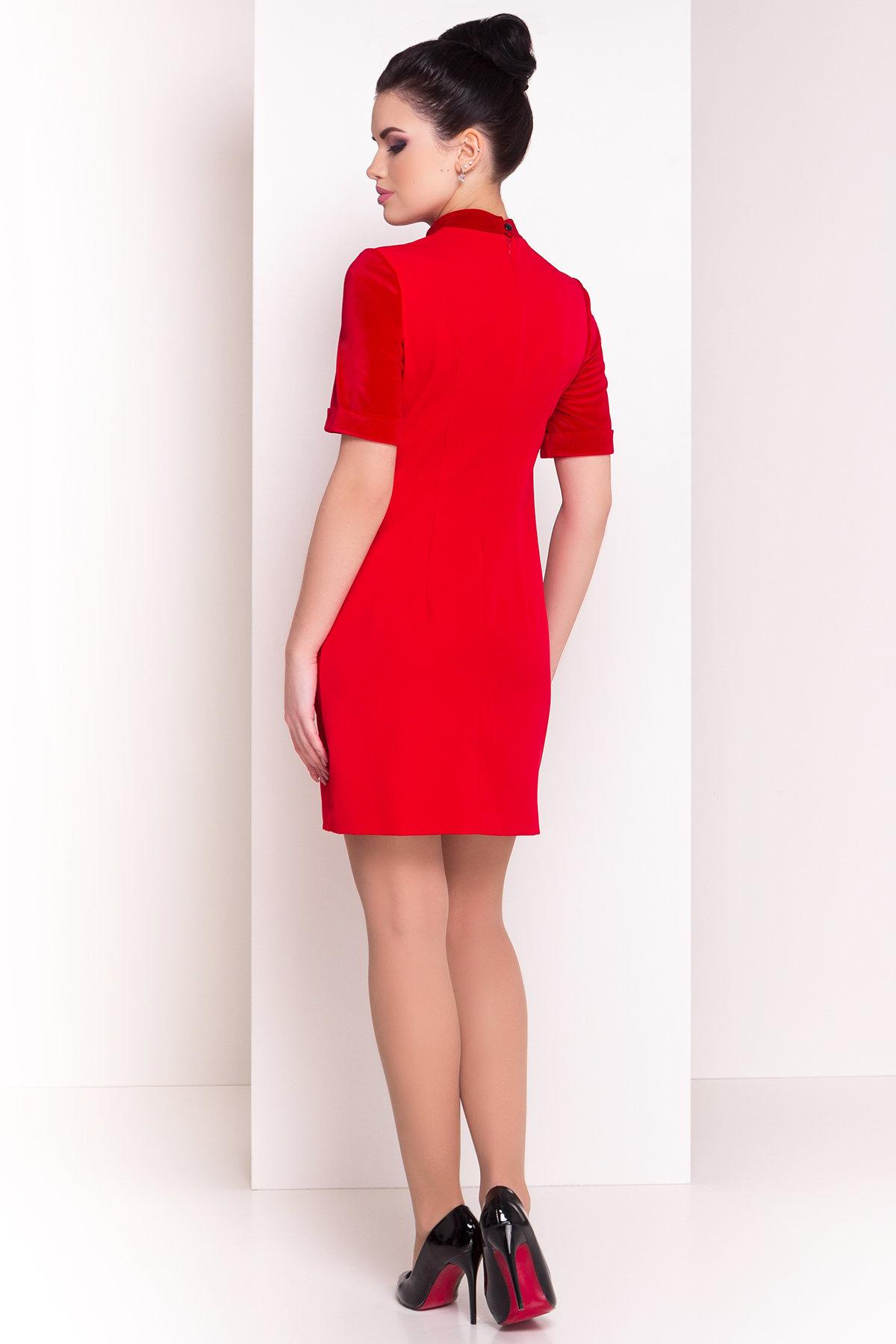 Платье Бонерус 4455 АРТ. 21411 Цвет: Красный - фото 2, интернет магазин tm-modus.ru
