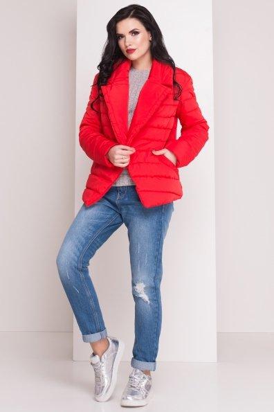Стеганая куртка с поясом Мириам 4483 Цвет: Красный