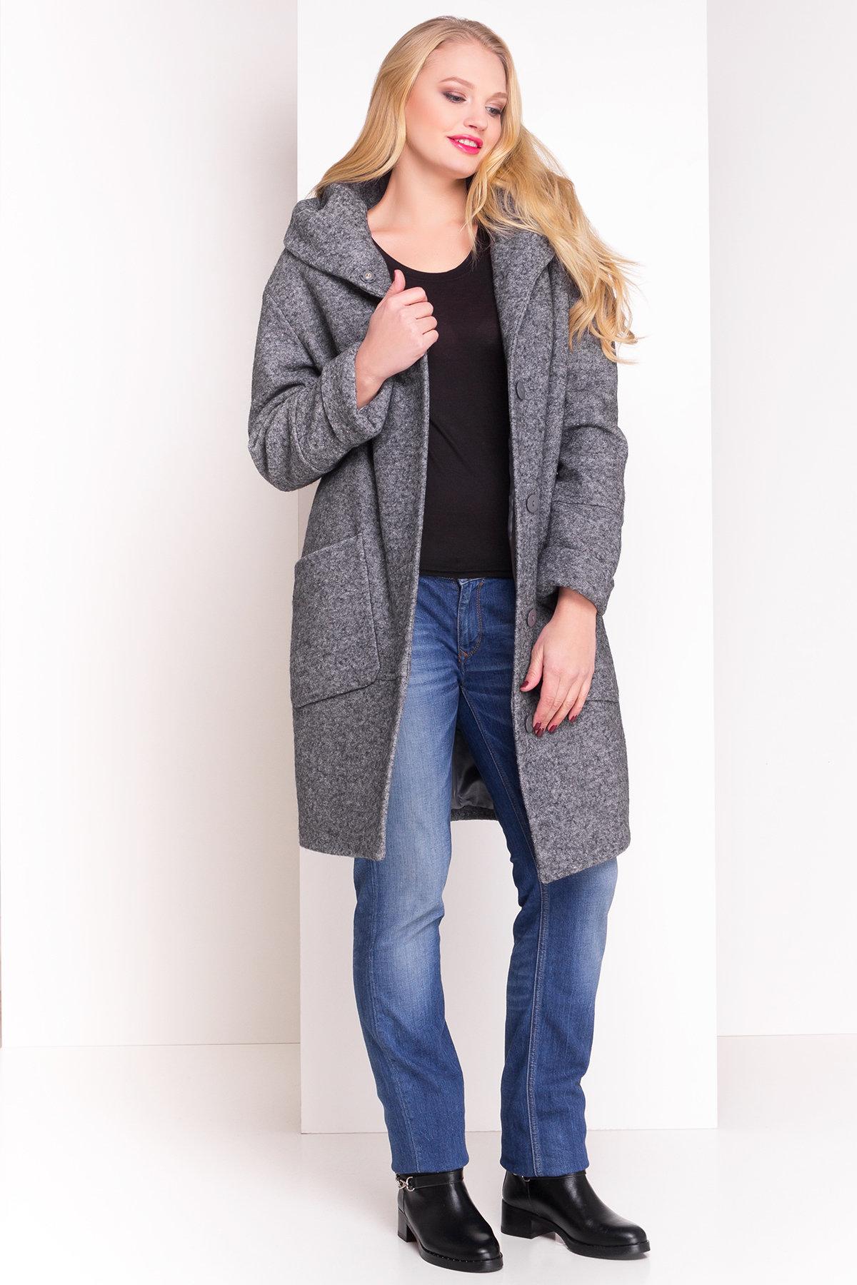 Пальто зима с капюшоном Анита Donna 3720 АРТ. 19290 Цвет: Серый Темный LW-5 - фото 1, интернет магазин tm-modus.ru