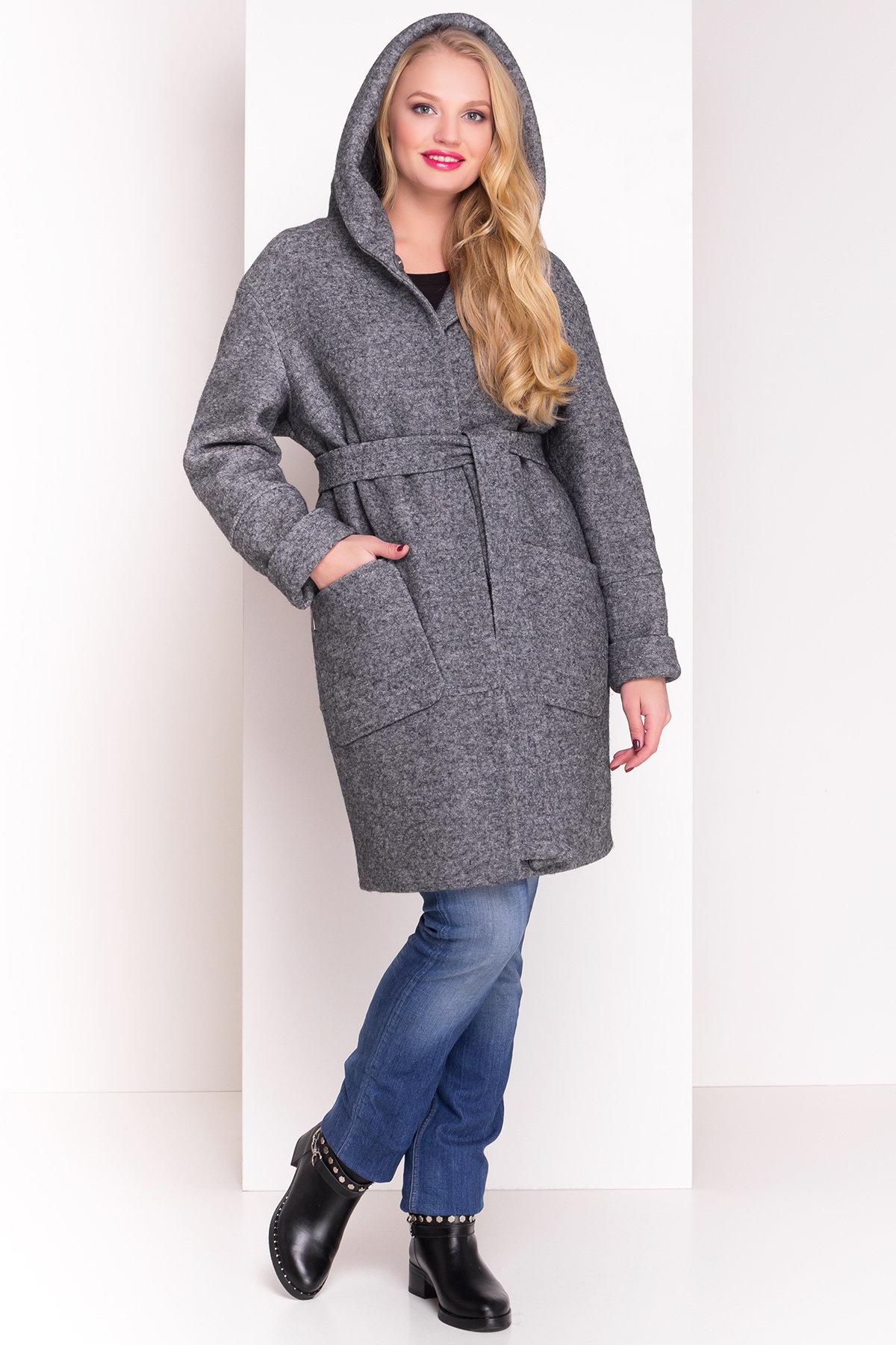 пальто зимнее больших размеров Пальто зима с капюшоном Анита Donna 3720