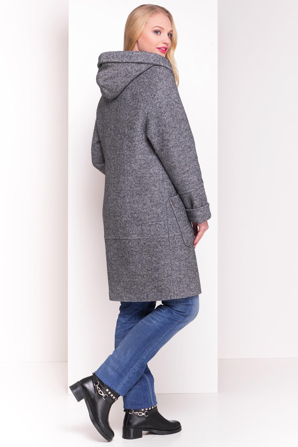 Пальто зима с капюшоном Анита Donna 3720 АРТ. 19290 Цвет: Серый Темный LW-5 - фото 4, интернет магазин tm-modus.ru