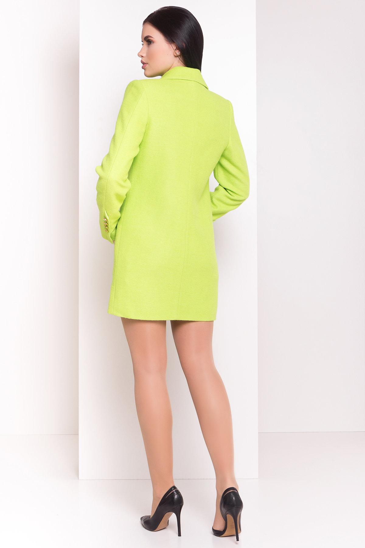 Пальто Кайра 1619 АРТ. 9290 Цвет: Салат - фото 2, интернет магазин tm-modus.ru