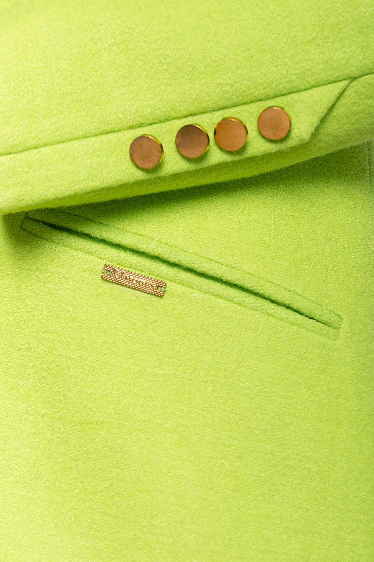 Пальто Кайра 1619 АРТ. 9290 Цвет: Салат - фото 3, интернет магазин tm-modus.ru