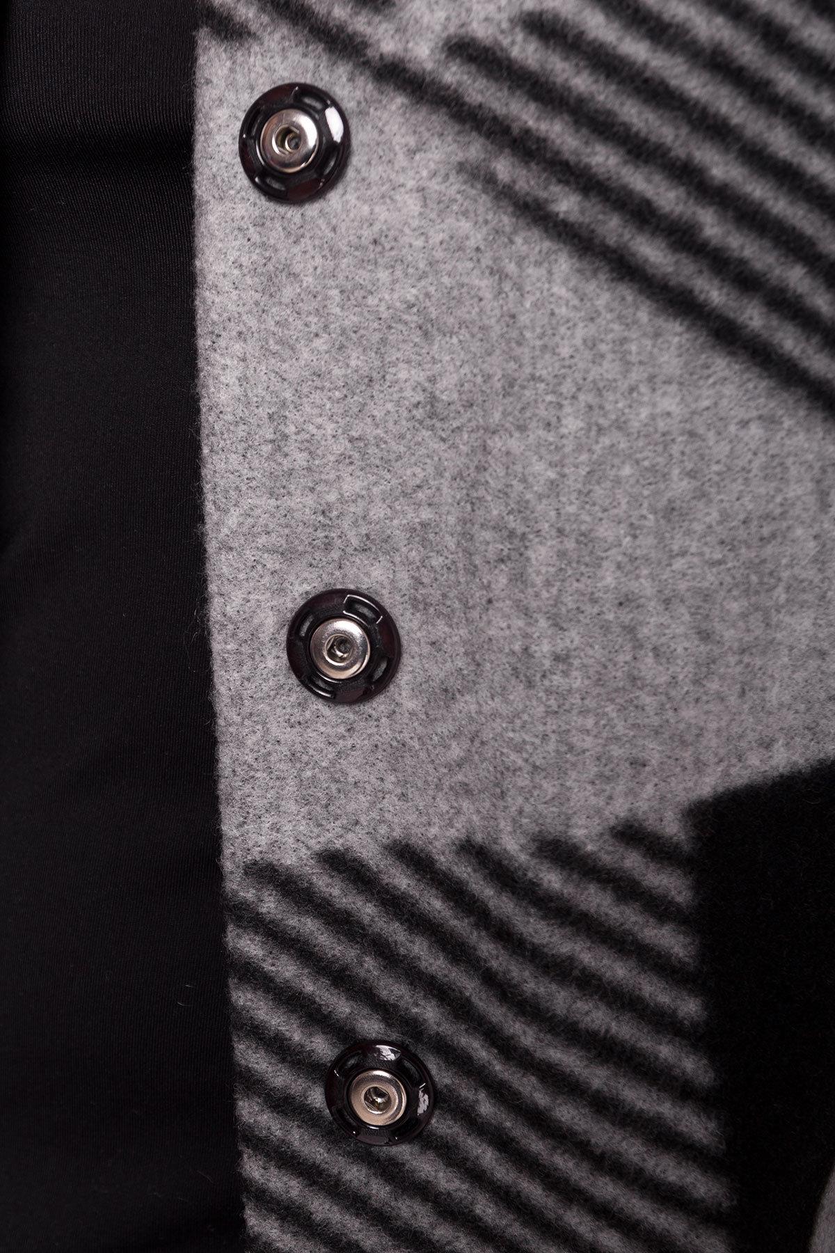 Пальто Арис 0446  АРТ. 6797 Цвет: Черный / серый Д2/С1 - фото 4, интернет магазин tm-modus.ru