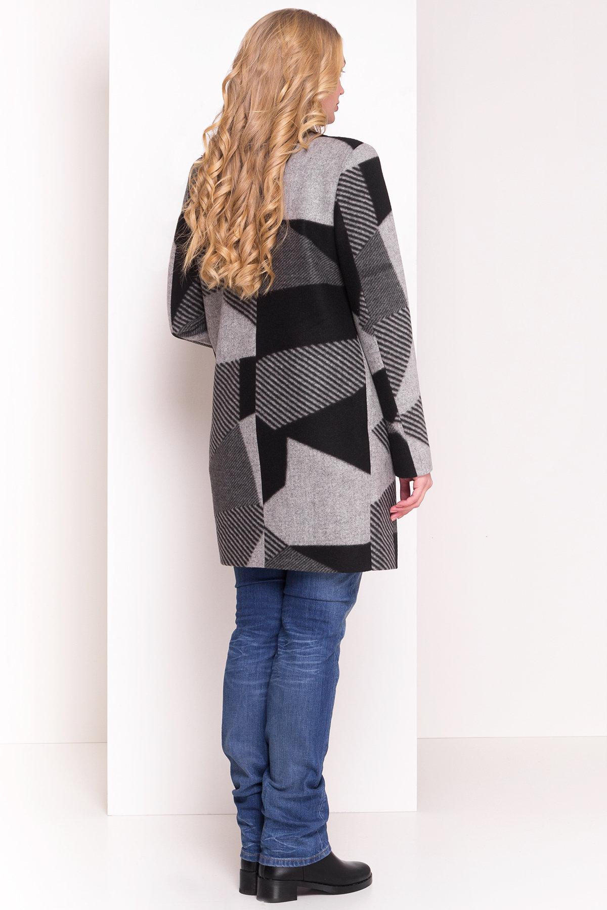 Пальто Арис 0446  АРТ. 6797 Цвет: Черный / серый Д2/С1 - фото 3, интернет магазин tm-modus.ru