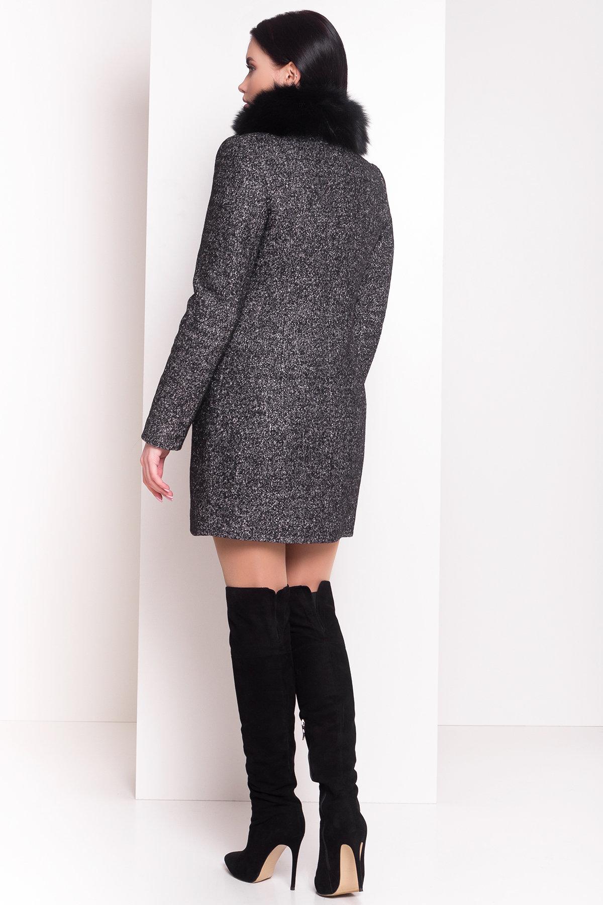 Пальто зима Сан-Ремо АРТ. 8059 Цвет: Черный/ серый - фото 2, интернет магазин tm-modus.ru