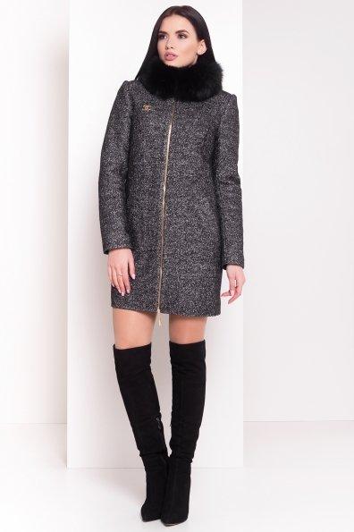 Пальто зима Сан-Ремо Цвет: Черный/ серый