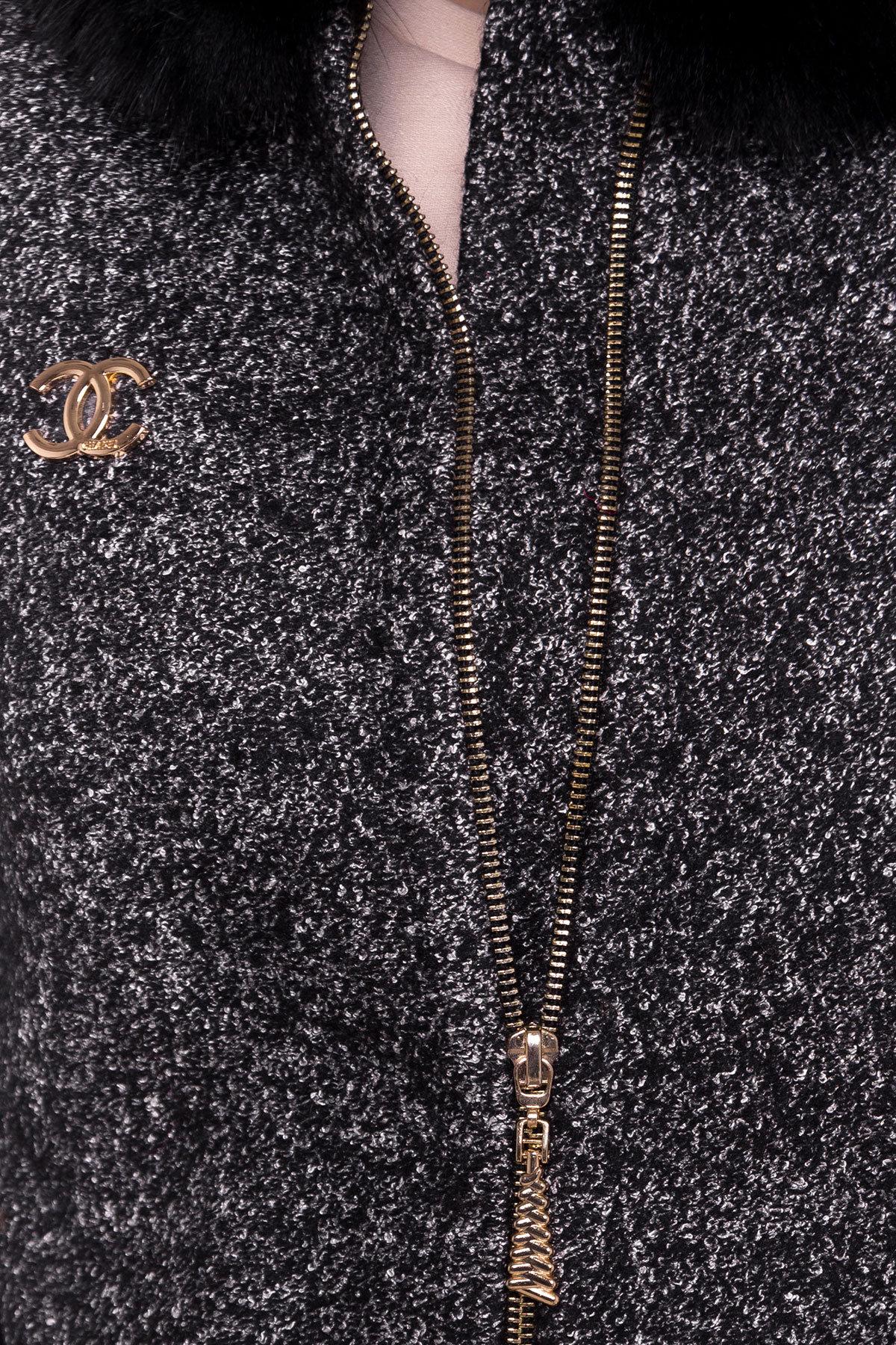 Пальто зима Сан-Ремо АРТ. 8059 Цвет: Черный/ серый - фото 4, интернет магазин tm-modus.ru
