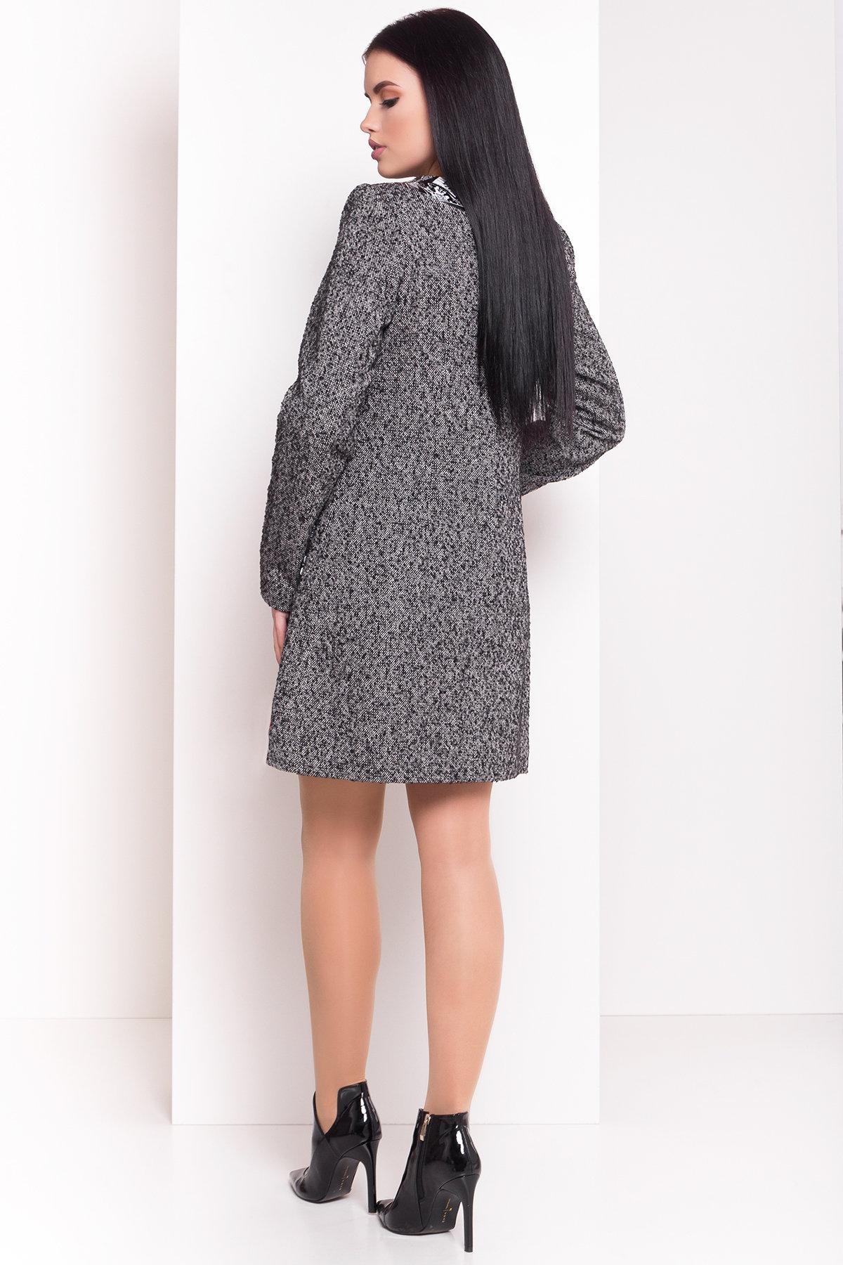 Пальто Силена 0499 Цвет: Серый 1 меланж