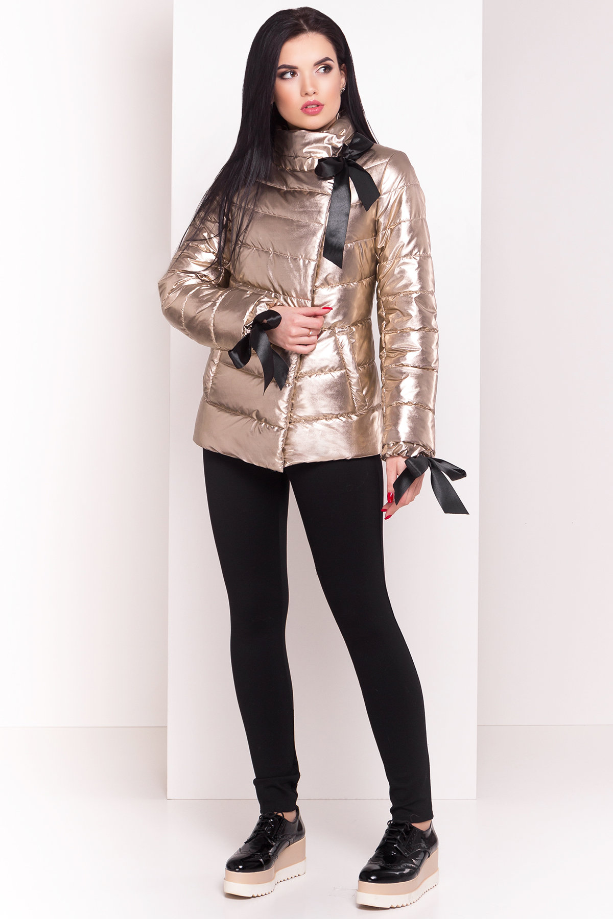 купить женские куртки оптом Куртка металлик Эллария 4589