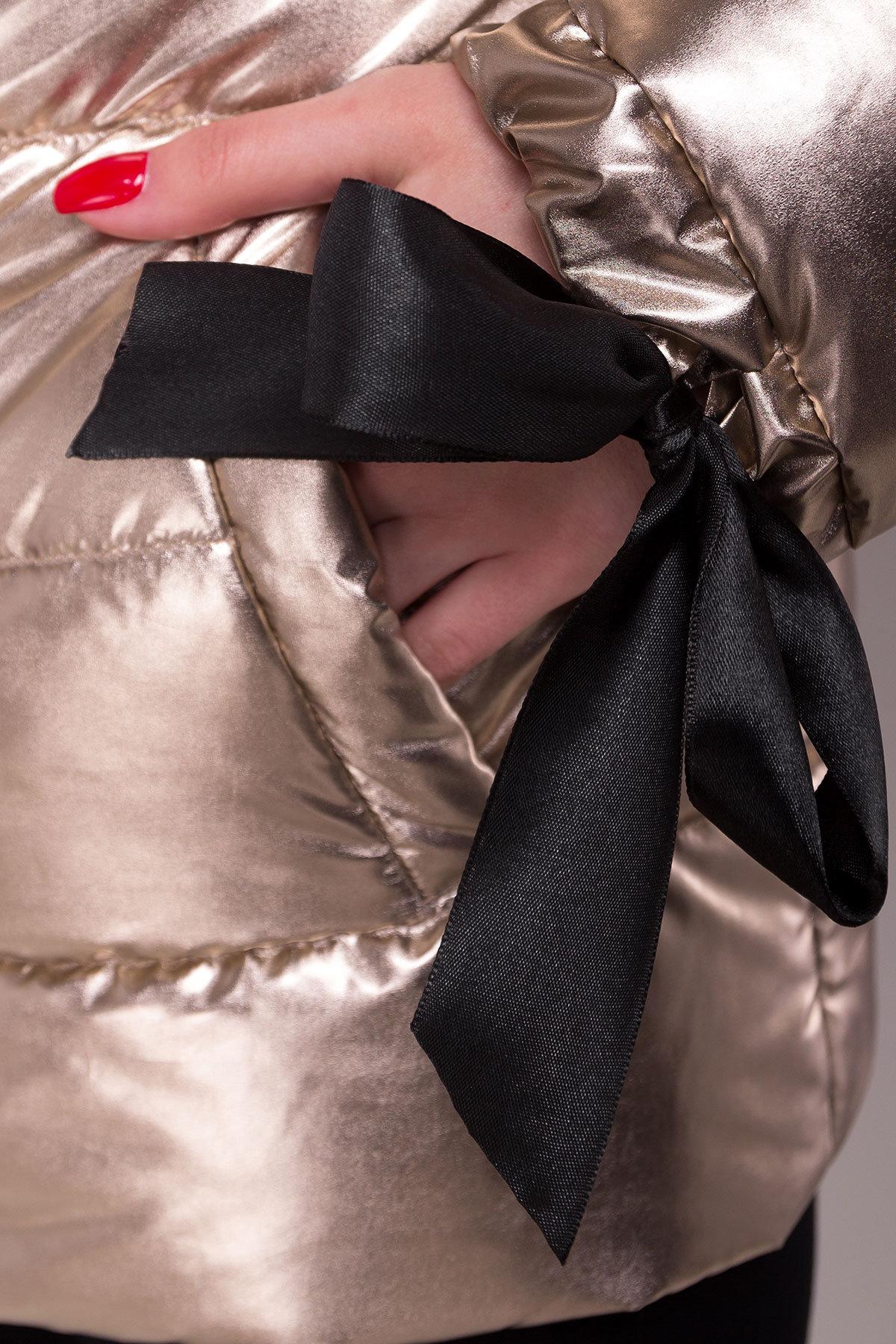 Куртка металлик Эллария 4589 АРТ. 21749 Цвет: Золото - фото 4, интернет магазин tm-modus.ru