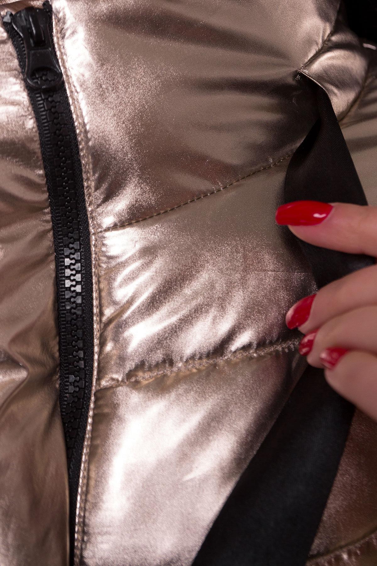 Куртка металлик Эллария 4589 АРТ. 21749 Цвет: Золото - фото 5, интернет магазин tm-modus.ru