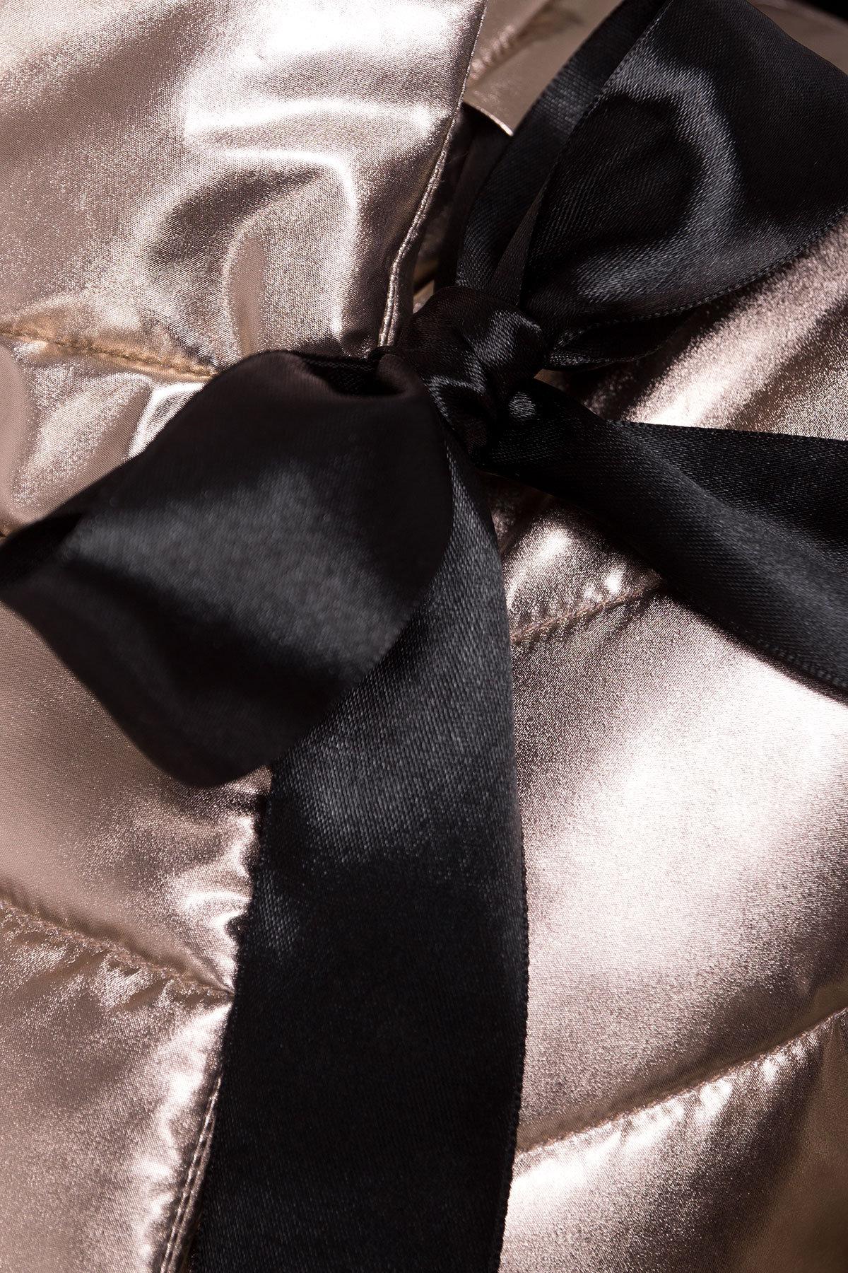 Куртка металлик Эллария 4589 АРТ. 21749 Цвет: Золото - фото 3, интернет магазин tm-modus.ru
