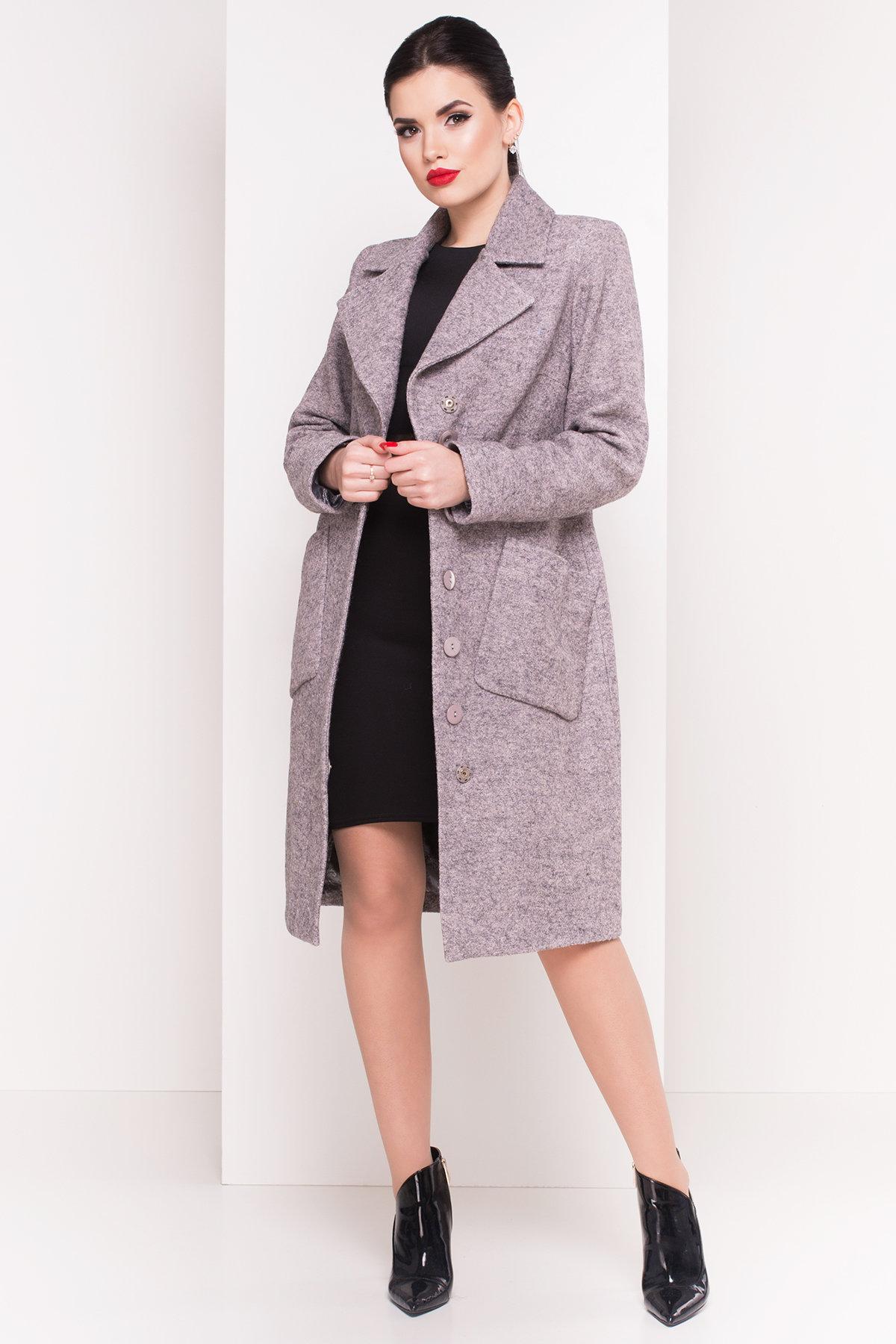 Пальто Габриэлла 4546 Цвет: Серый/розовый-LW25