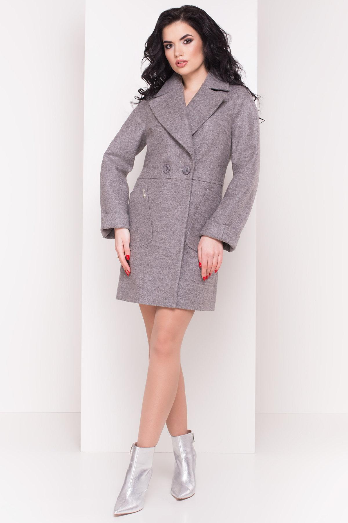 Пальто Модика 4552 Цвет: Серый/розовый