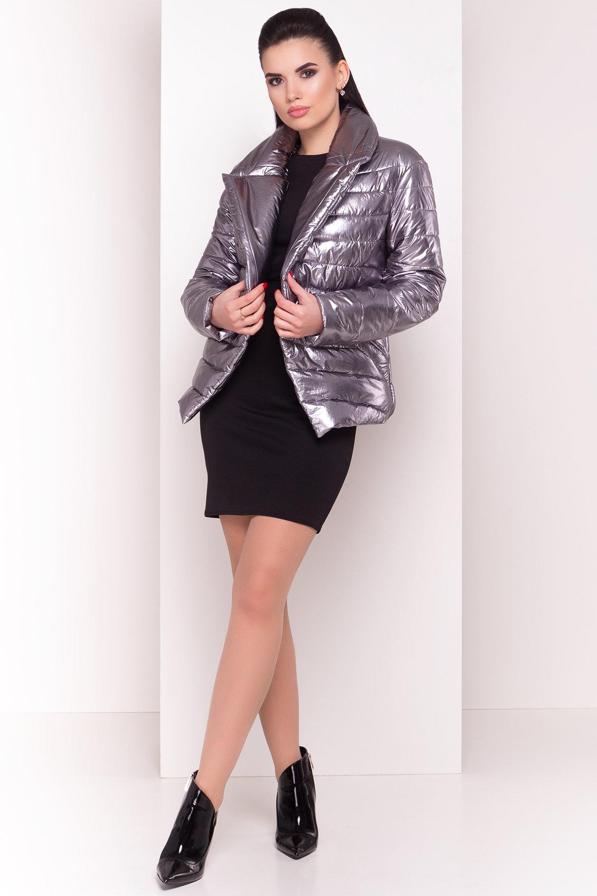 Куртка горизонтальная стежка Мириам  4562 Цвет: Блек никель