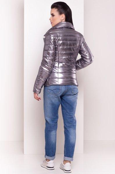 Мириам  4562 куртка горизонтальная стежка  Цвет: Блек никель