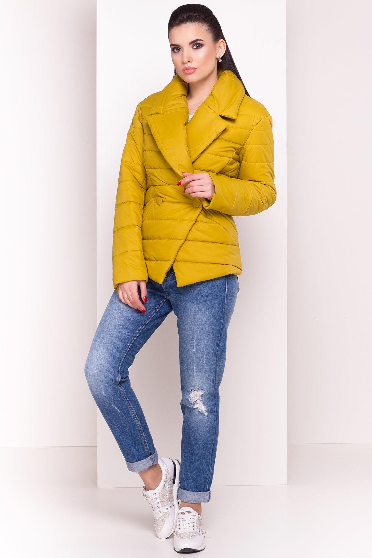 Куртка однотонная Мириам 4564 АРТ. 21648 Цвет: Горчица - фото 3, интернет магазин tm-modus.ru
