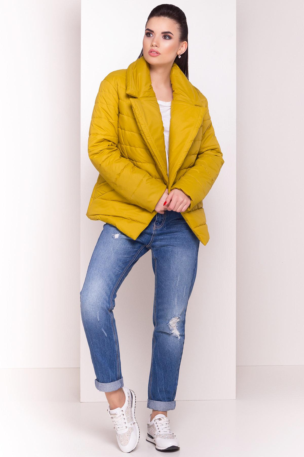 Куртка однотонная Мириам 4564 АРТ. 21648 Цвет: Горчица - фото 2, интернет магазин tm-modus.ru