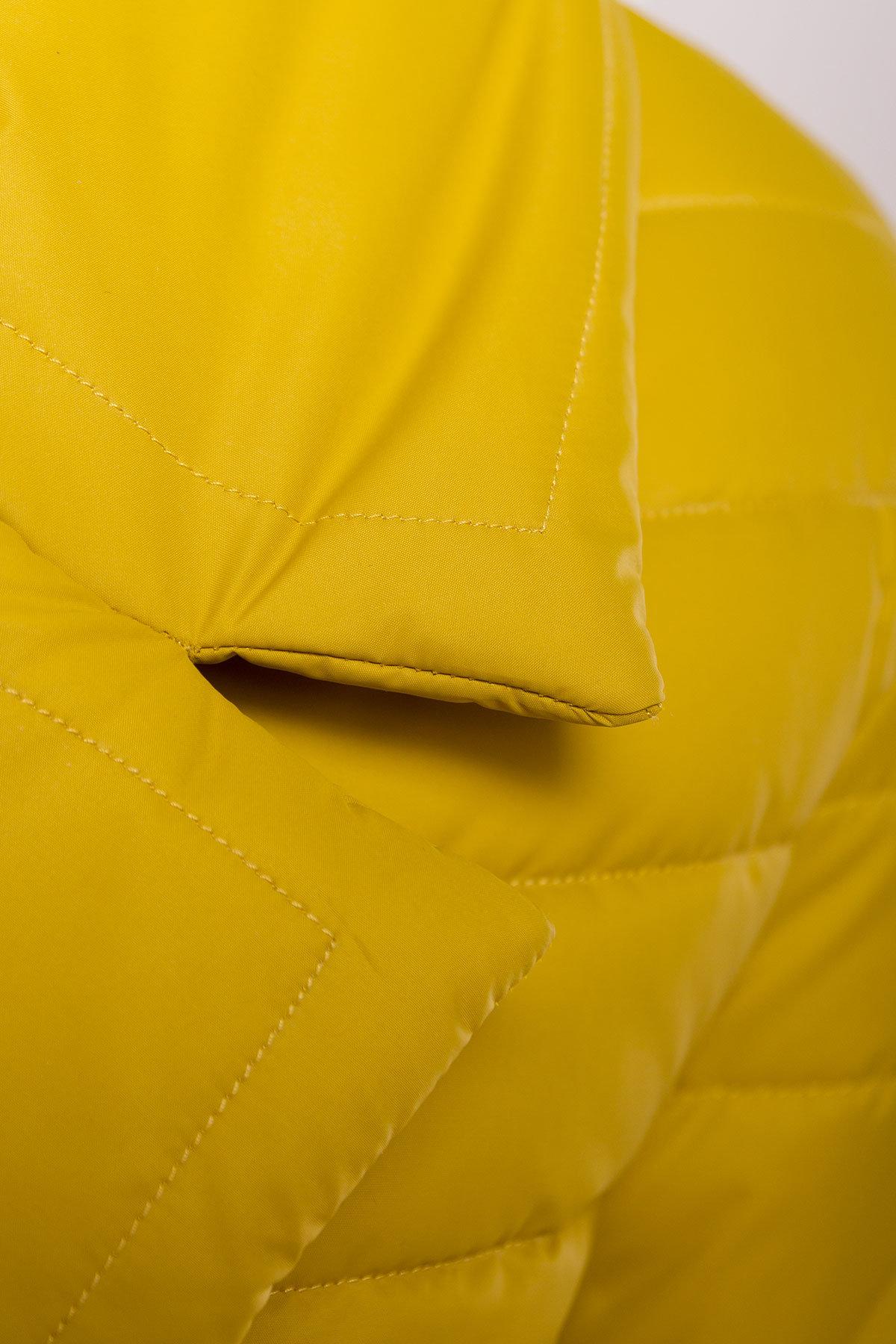 Куртка однотонная Мириам 4564 АРТ. 21648 Цвет: Горчица - фото 5, интернет магазин tm-modus.ru