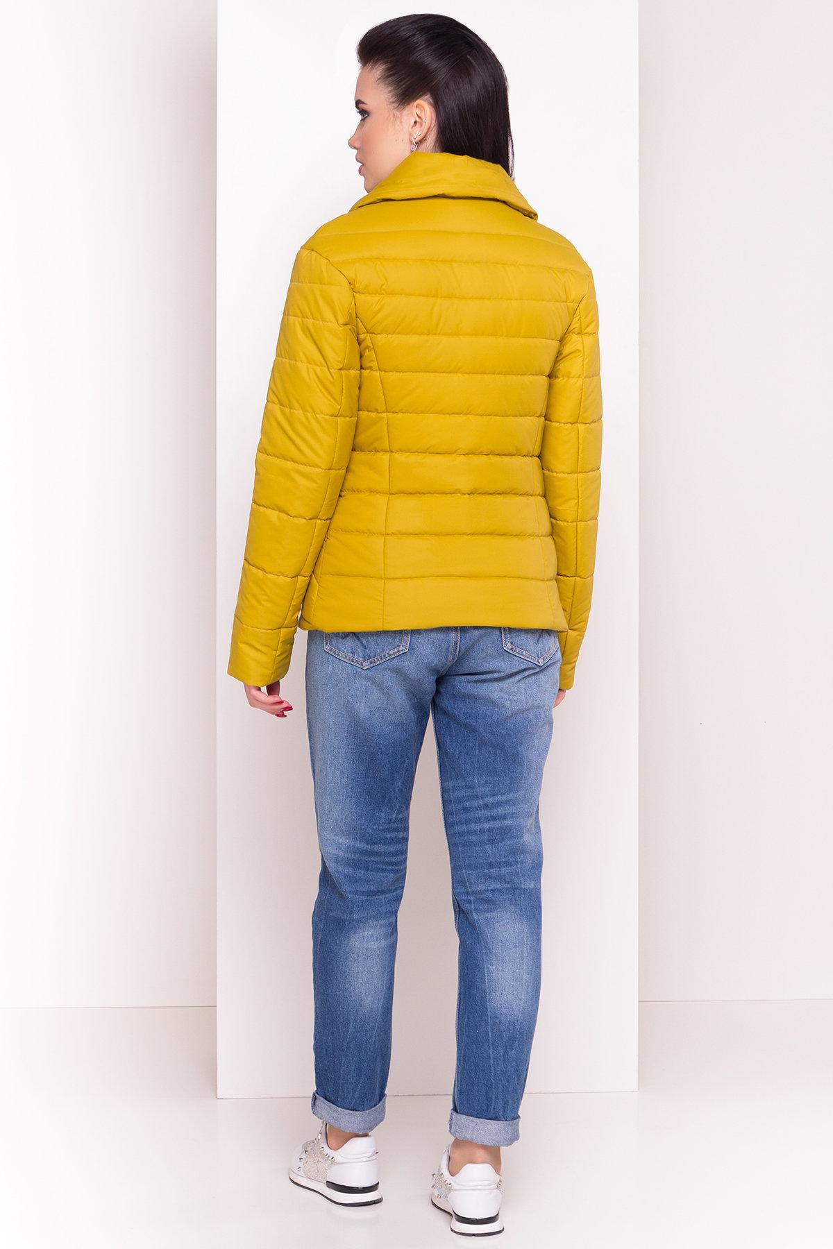 Куртка однотонная Мириам 4564 АРТ. 21648 Цвет: Горчица - фото 4, интернет магазин tm-modus.ru