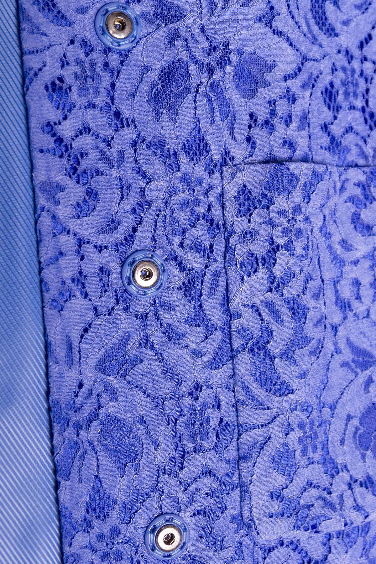 Кружевной плащ прямого кроя Сиат 4659 АРТ. 33659 Цвет: Голубой - фото 4, интернет магазин tm-modus.ru