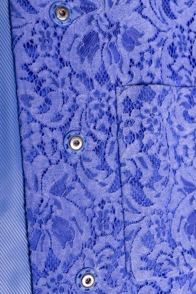 Кружевной плащ прямого кроя Сиат 4659 Цвет: Голубой
