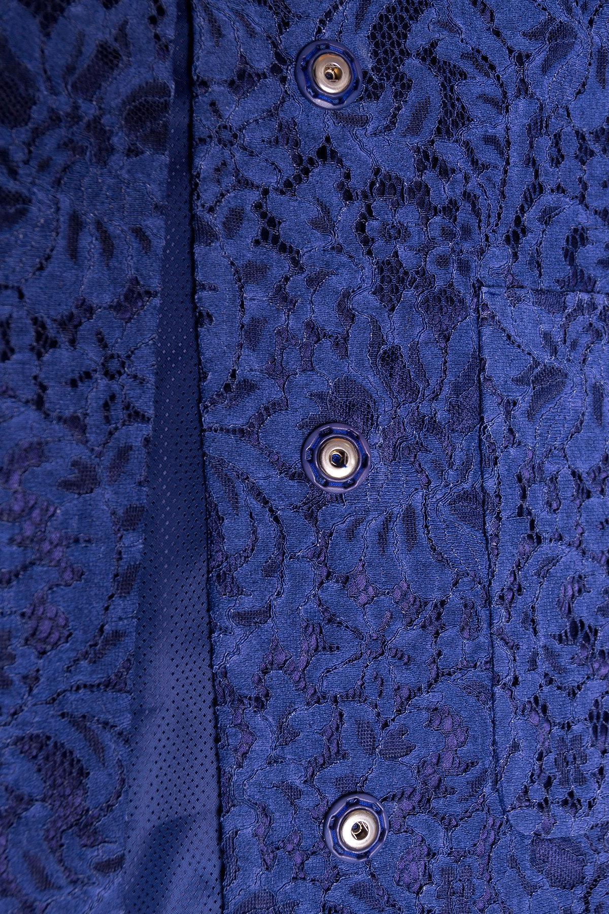 Кружевной плащ прямого кроя Сиат 4659 АРТ. 33661 Цвет: Темно-синий - фото 4, интернет магазин tm-modus.ru