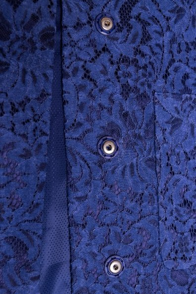 Кружевной плащ прямого кроя Сиат 4659 Цвет: Темно-синий