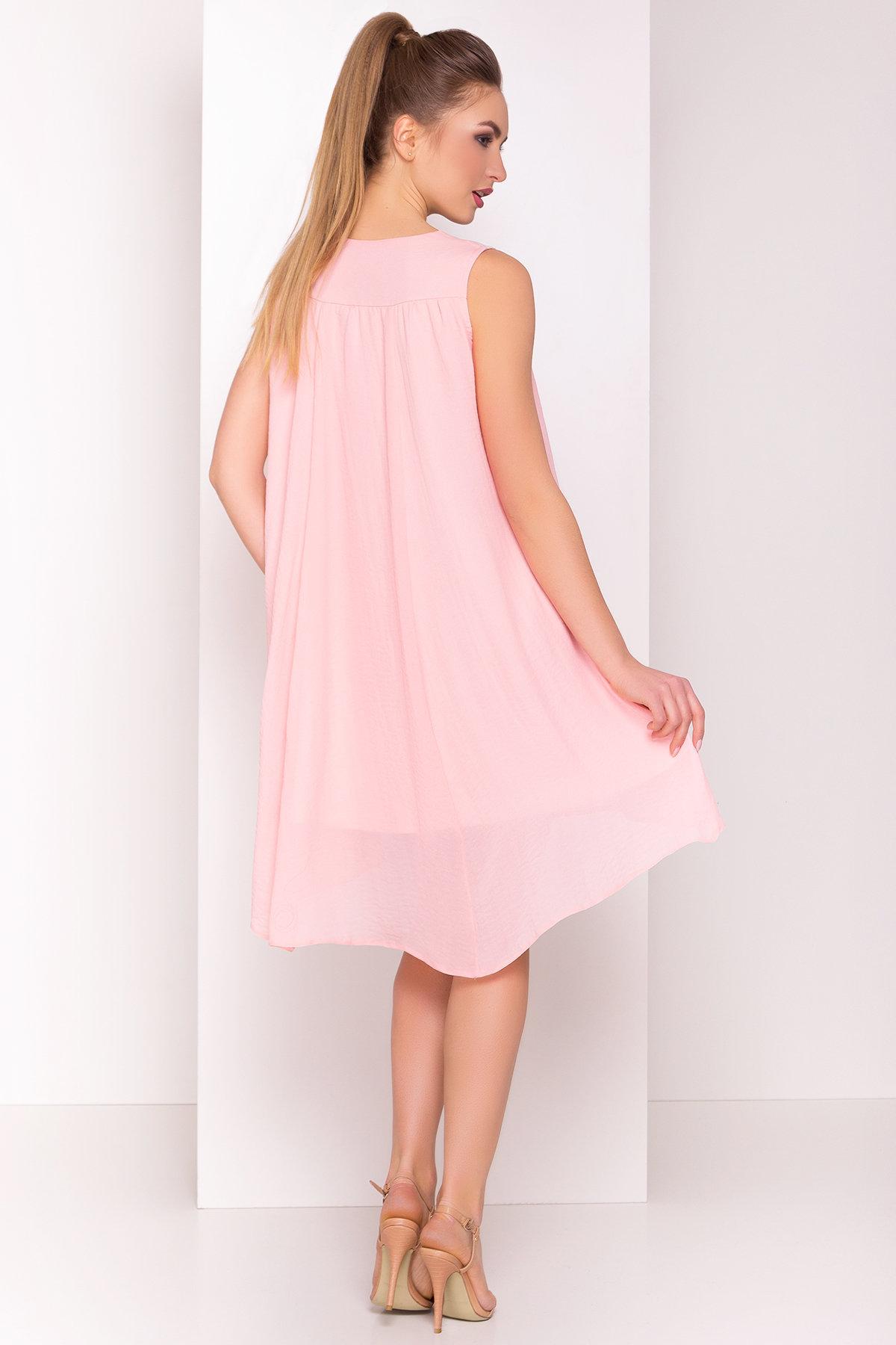 Платье Альбина 3110 АРТ. 33934 Цвет: Розовый Темный 1 - фото 3, интернет магазин tm-modus.ru