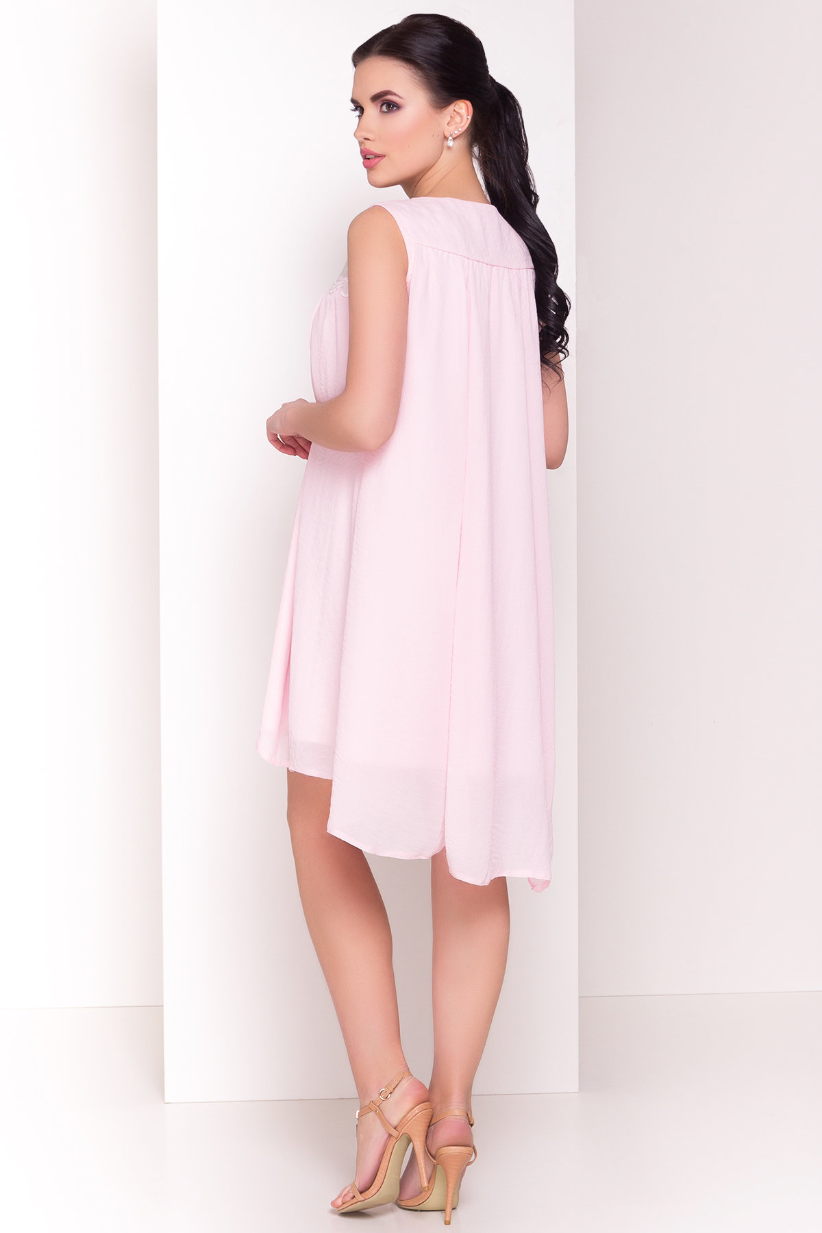 Платье свободного кроя Альбина 3110 АРТ. 16102 Цвет:  Розовый Светлый - фото 3, интернет магазин tm-modus.ru