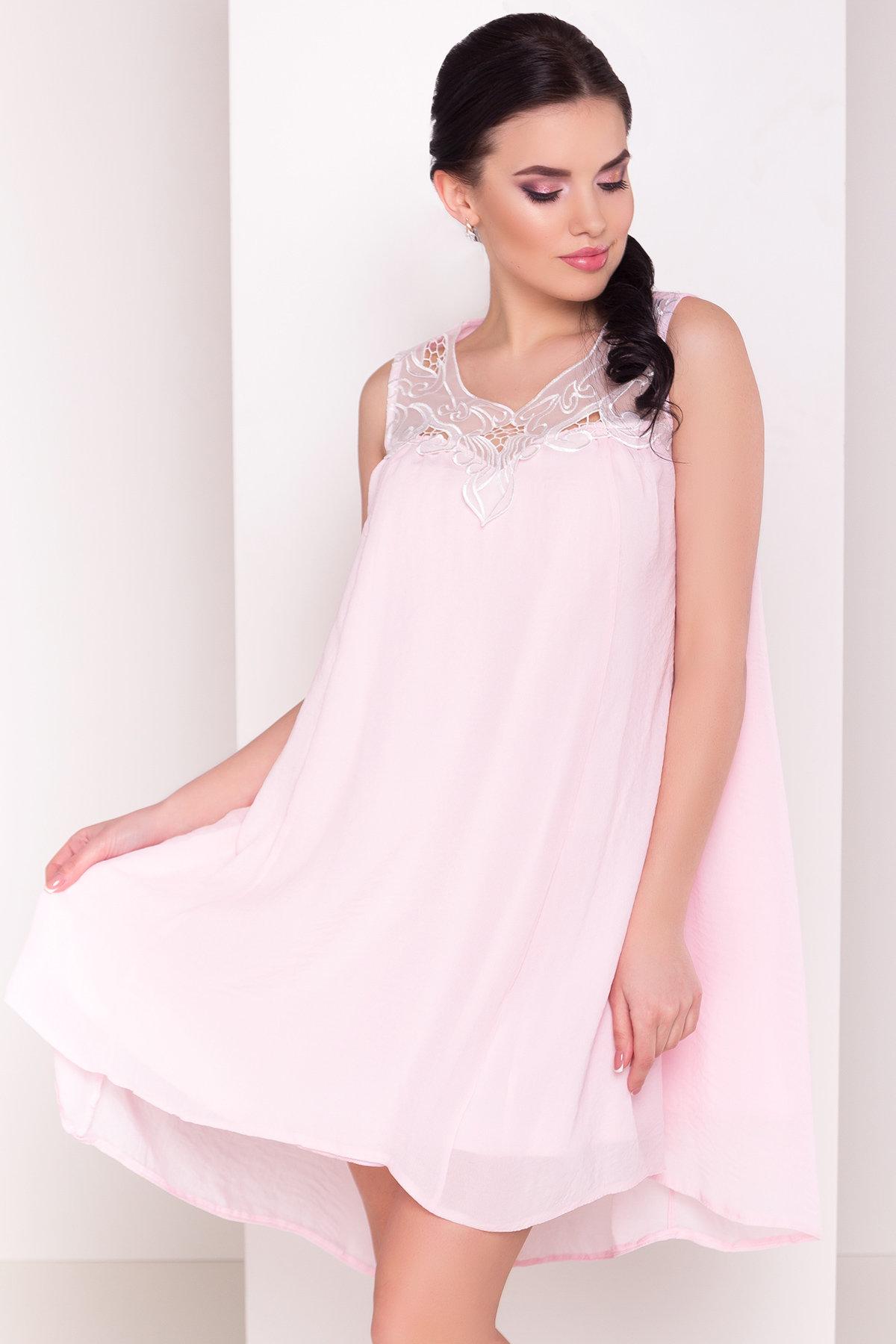 Платье Альбина 3110 АРТ. 16102 Цвет:  Розовый Светлый - фото 3, интернет магазин tm-modus.ru